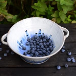 Misa do serwowania owoców / berry bowl / niebieska