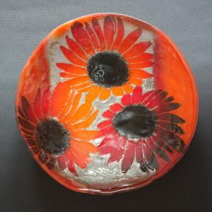 Misa sfera Kwiaty Czerwone fi 43 cm