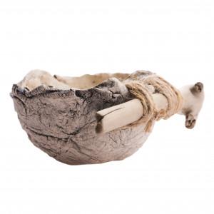 Miseczka ceramiczna nakrapiana z drewnem