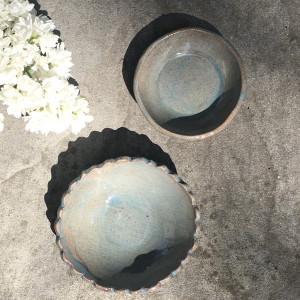Miseczki ceramiczne z koronką