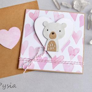 misia Pysia - kartka dla dziewczynki