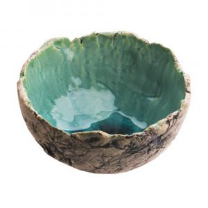 Miska ceramiczna turkusowa 3