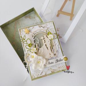 Młodej Parze- kartka ślubna w pudełku