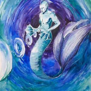 """MOC"" akwarela artystki Adriany Laube - fantasy"
