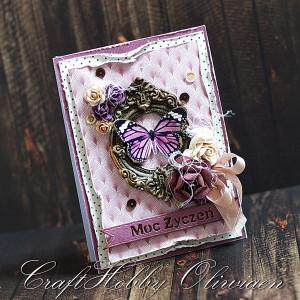 Moc życzeń - motyl w fioletach
