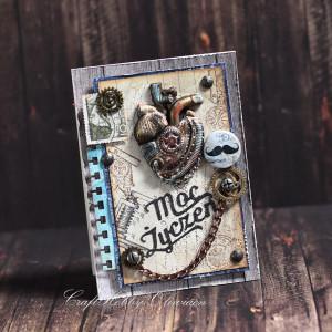 Moc życzeń - serce w stylu steampunk