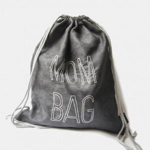 MOM BAG szary plecak worek dla mamy