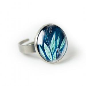 Morskie pierścionek z ilustracją