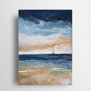 Morze-praca wykonana pastelami