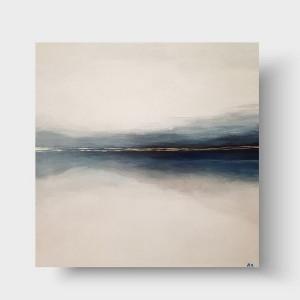 Morze ze złotem -obraz akrylowy 50/50 cm