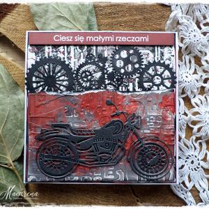 Motocyklista - kartka urodzinowa