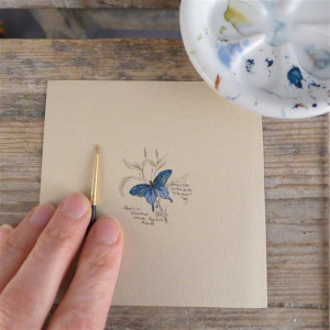 Motyl I, szkicownik, miniatura, obrazek