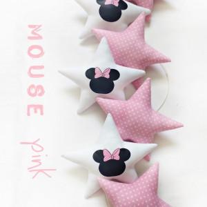 MOUSE pink - girlanda