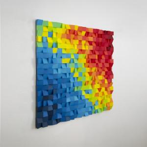 "Mozaika drewniana, Obraz 3D ""Papuga nr 3"""