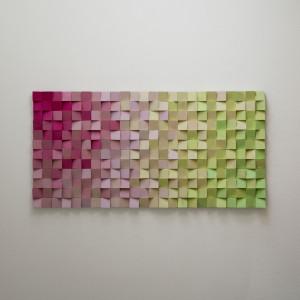 """Mozaika drewniana, Obraz drewniany 3D """"PJ"""""""