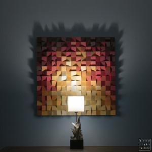 """Mozaika drewniana Obraz drewniany """"Ogień_2"""""""