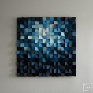 """Mozaika drewniana Obraz drewniany """"W głębi"""""""