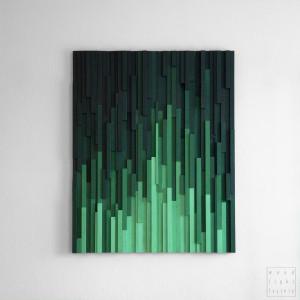 """Mozaika Obraz drewniany 3D """"Emerald City"""""""