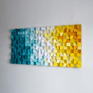 """Mozaika Obraz drewniany 3D """"Plaża_K"""""""