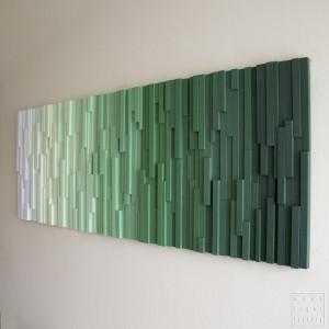 """Mozaika, Obraz drewniany """"Zielony spokój"""""""