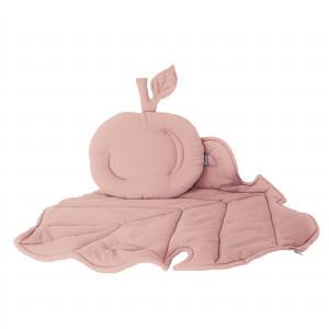 Muślinowy zestaw niemowlęcy- brudny róż