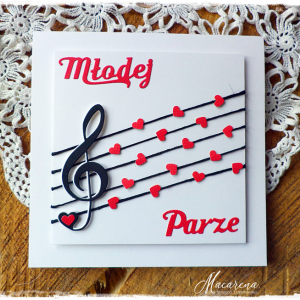 Muzyczna kartka ślubna