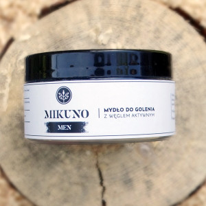 Mydło do golenia z węglem aktywnym Mikuno