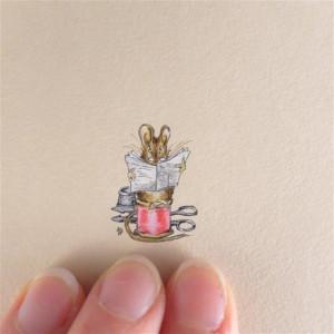 Mysz krawiec , Beatrix Potter, miniatura, obrazek