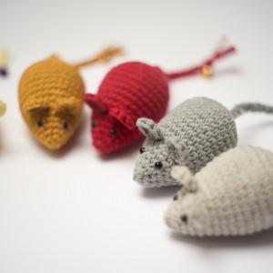 Myszka Simple ciemnoszara  zabawka dla kota