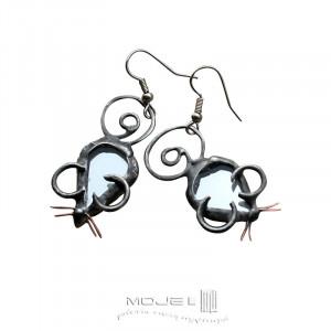 Myszki lusterkowe - kolczyki