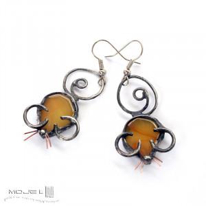 Myszki żółciszki - kolczyki
