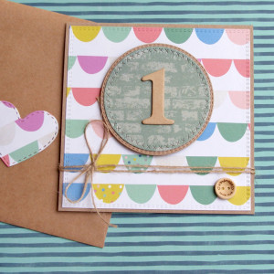 na roczek - kolorowa kartka handmade