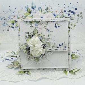 Najlepsze życzenia - kartka w pudełku