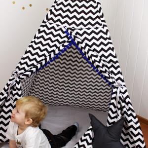 Namiot Tipi Teepee czarno biały