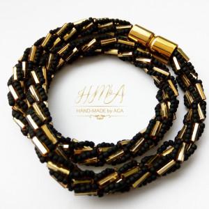 Naszyjnik - turecki sznur czarno-złoty