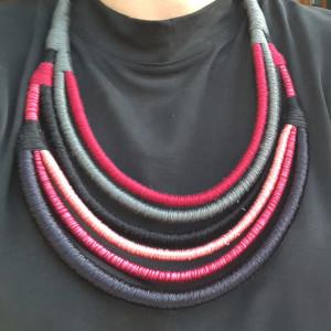 Naszyjnik bawełniane liny Kalina