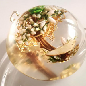Naszyjnik biało złote drzewo szczęścia – symbol
