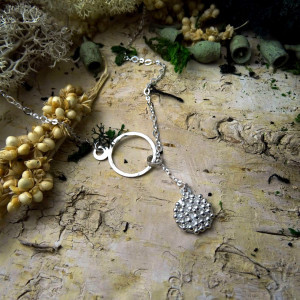 Naszyjnik granulowany - srebro