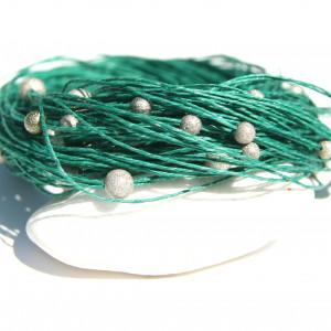 Naszyjnik len i korale 6