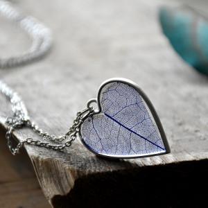 Naszyjnik Serce z Liściem w środku