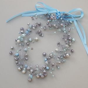Naszyjnik szklane perły Maite