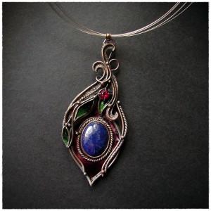 Naszyjnik Wisiorek Lapis Lazuli