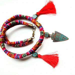 Naszyjnik z chwostami Totem