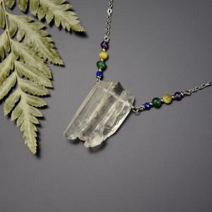Naszyjnik z soplami kryształów górskich