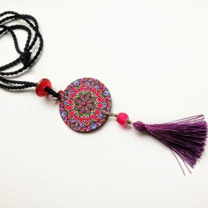 Naszyjnik z wisiorem i chwostem Purple
