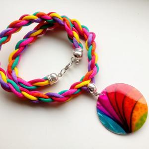 Naszyjnik z wisiorem z muszli Rainbow