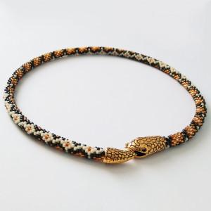 """Naszyjnik - """"Złoty wąż"""""""
