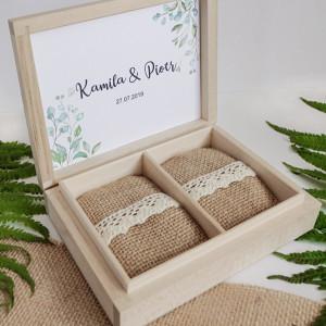 Naturalne pudełko na obrączki I