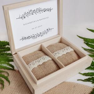 Naturalne pudełko na obrączki II