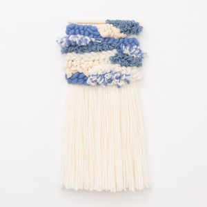 Niebieska abstrakcyjna makatka